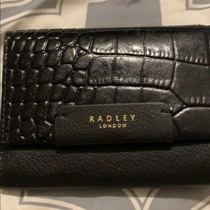 Radley London black leather wallet - NEW & nice